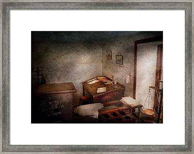 Lawyer - The Law Office Framed Print by Mike Savad