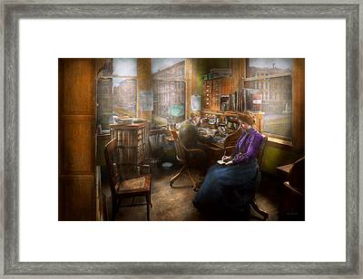 Lawyer - Always Taking Notes - 1902 Framed Print by Mike Savad