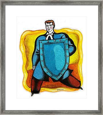 Lawyer Framed Print by Leon Zernitsky