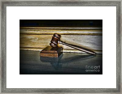 Lawyer - The Judge's Gavel Framed Print by Paul Ward