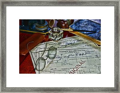 Lawyer - The Tax Attorney Framed Print by Paul Ward