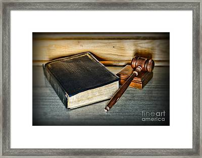 Lawyer - Truth And Justice Framed Print by Paul Ward