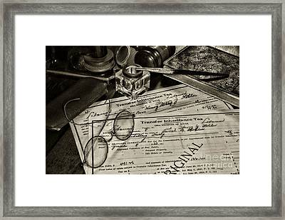 Lawyer - Wills And Estates Framed Print by Paul Ward