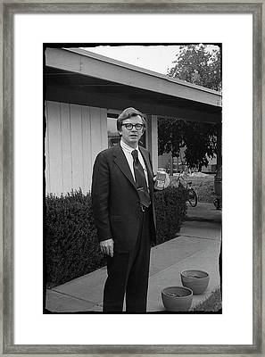 Lawyer With Can Of Tab, 1971 Framed Print
