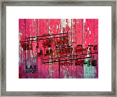 Lax Airport Map Framed Print