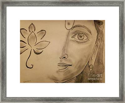 Laxmi Mata Framed Print by Navroz  Raje