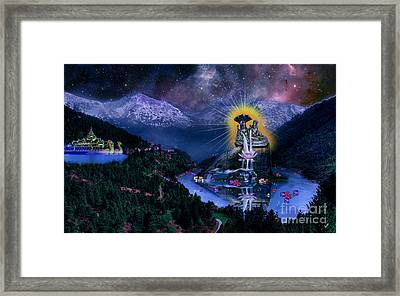 Laxmi Narayan Framed Print by Artist Nandika  Dutt