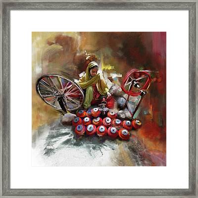Layallpur Woman  Framed Print by Mawra Tahreem