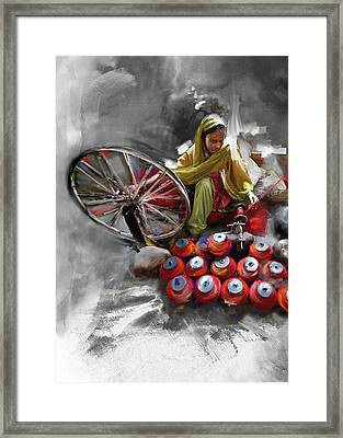 Layalpur Woman 191 3 Framed Print by Mawra Tahreem