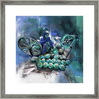Layalpur Woman 191 4 Framed Print by Mawra Tahreem