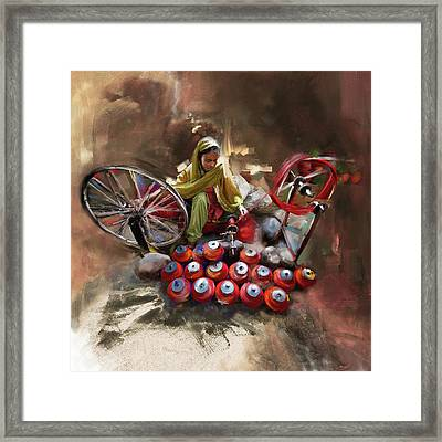 Layalpur Woman 191 II Framed Print by Mawra Tahreem