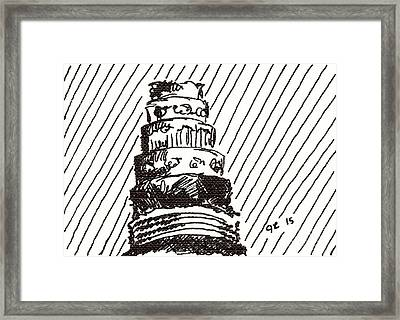 Layer Cake 1 2015 - Aceo Framed Print