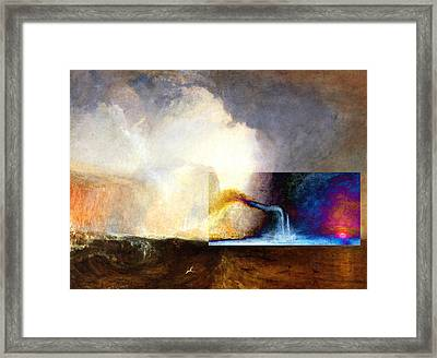 Framed Print featuring the digital art Layered 1 Turner by David Bridburg