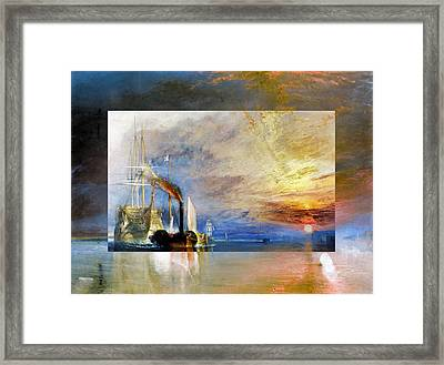 Framed Print featuring the digital art Layered 10 Turner by David Bridburg