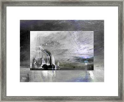 Framed Print featuring the digital art Layered 11 Turner by David Bridburg