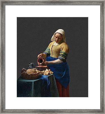 Layered 16 Vermeer Framed Print