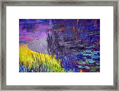 Layered 17 Monet Framed Print