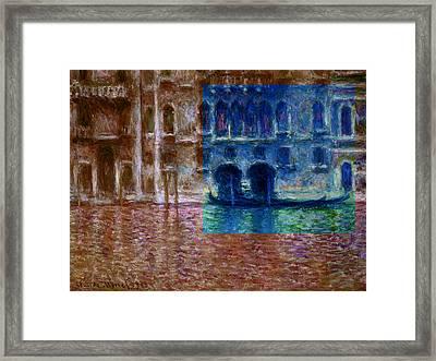 Layered 18 Monet Framed Print by David Bridburg