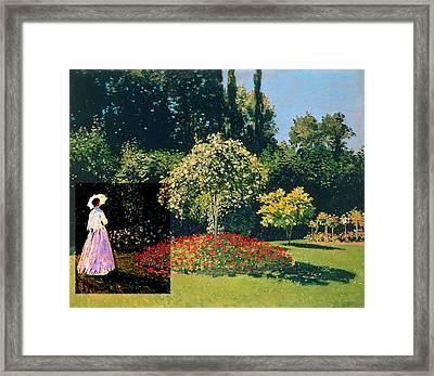 Layered 20 Monet Framed Print by David Bridburg