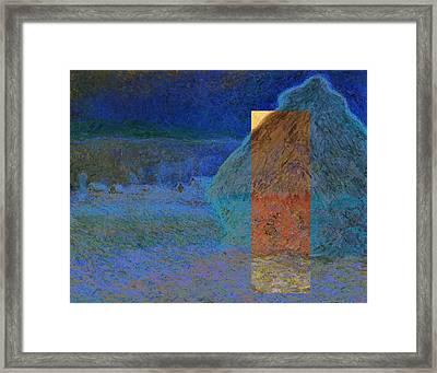 Layered 3 Monet Framed Print