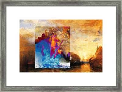 Framed Print featuring the digital art Layered 6 Turner by David Bridburg
