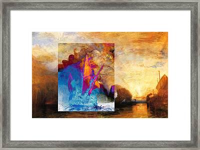 Layered 6 Turner Framed Print