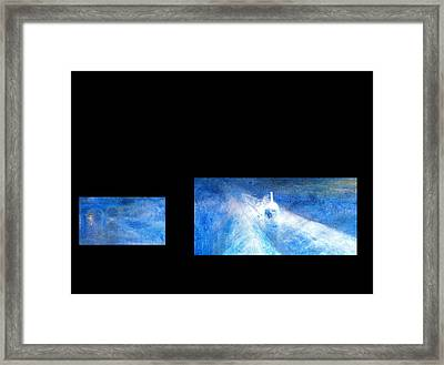 Framed Print featuring the digital art Layered 8 Turner by David Bridburg