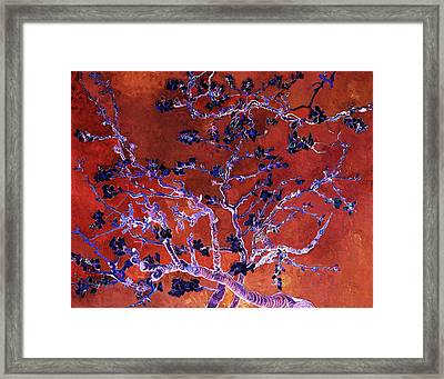 Layered 9 Van Gogh Framed Print by David Bridburg