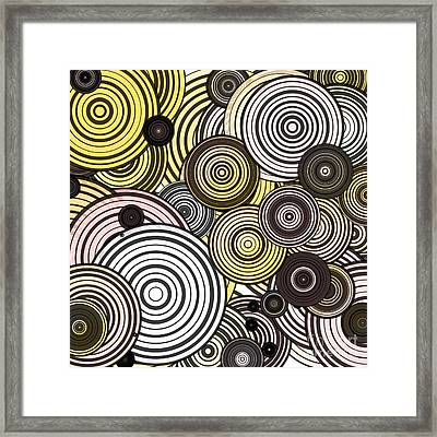 Layered Circles Framed Print by Gaspar Avila