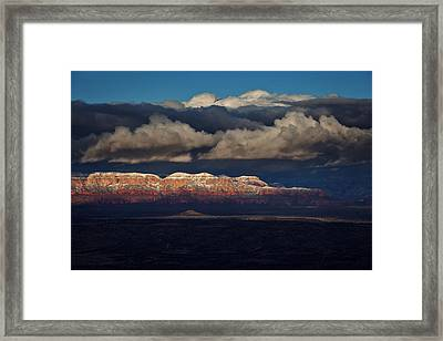 Framed Print featuring the photograph Layered Light by Ron Chilston