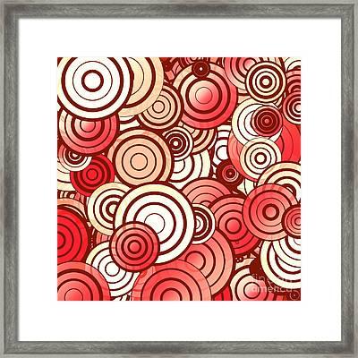 Layered Random Circles Framed Print