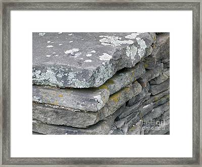 Layered Rock Wall Framed Print
