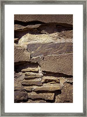 Layered Rocks Framed Print
