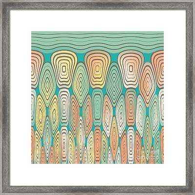 Layered Squares Framed Print by Gaspar Avila