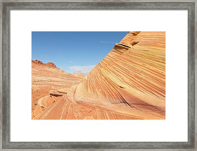 Layers In A Sandstone Cake Framed Print