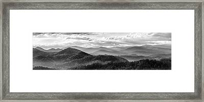 Layers In The Smokies Framed Print