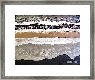 Layers L Framed Print by Marsha Heiken
