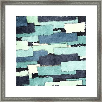 Layers Of Colors Pattern Framed Print