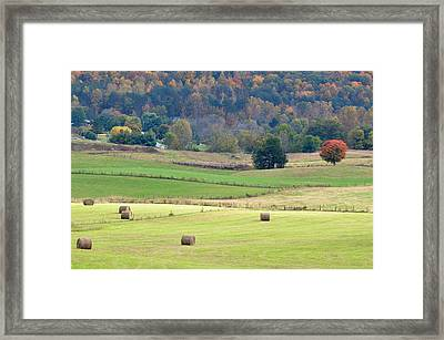 Layers Of Fields Framed Print