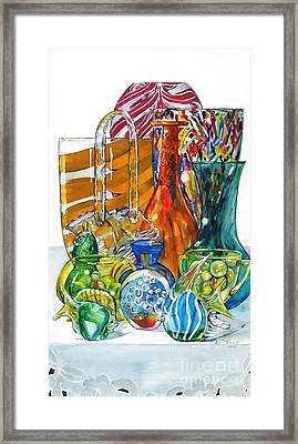 Layers Of Glass Framed Print