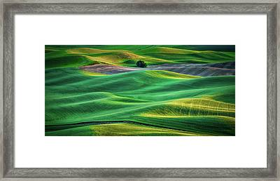 Layers Of Light Framed Print by Don Schwartz