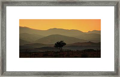 Layers Of Lucidity Framed Print