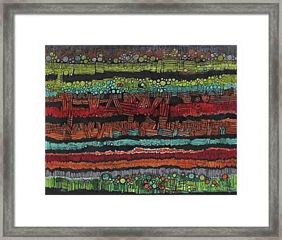 Strata  Framed Print by Sandra Church