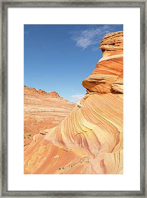 Layers Of Sandstone Framed Print
