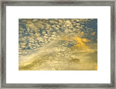 Framed Print featuring the photograph Layers Of Sky by Wanda Krack