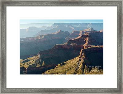 Layers Of The Canyon Framed Print by Jamie Pham