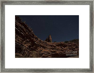 Layers Of Time Framed Print by Melany Sarafis