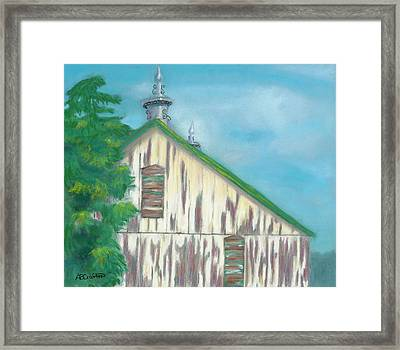 Framed Print featuring the painting Layers Of Years Gone By by Arlene Crafton