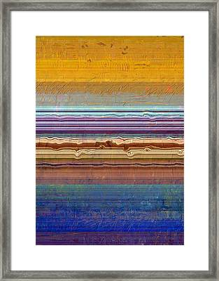 Layers With Orange And Blue Framed Print