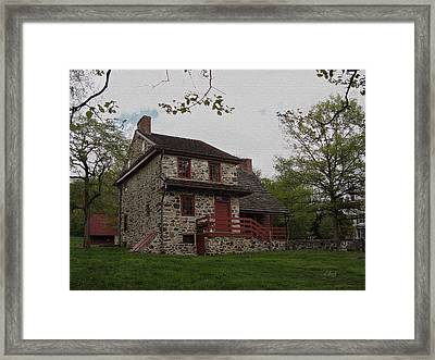 Layfayette's Headquarters At Brandywine Framed Print by Gordon Beck